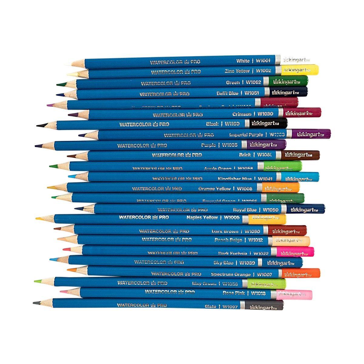 Pro Watercolor Pencil Collection Tin Case Set Of 72 Unique