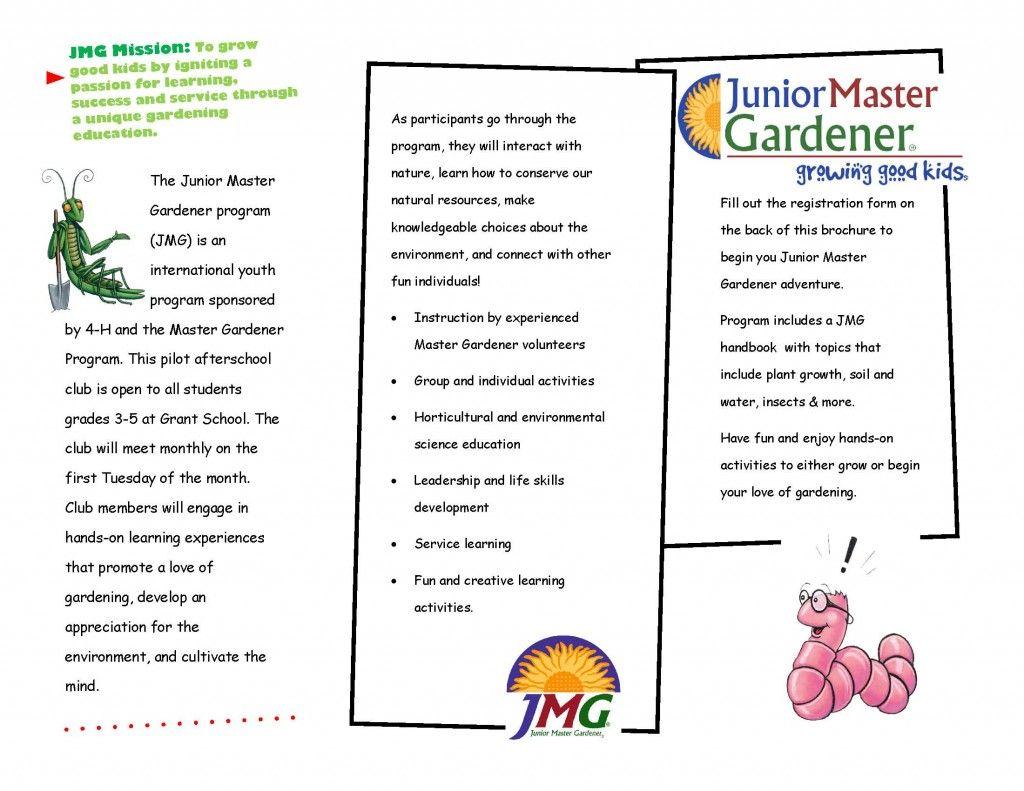 Junior Master Gardener Brochure Pdf 1 Page 2 Master Gardener