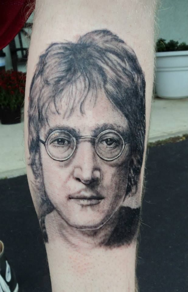 john lennon tattoo by stevie lange moonlight tattoos pinterest john lennon tattoo and. Black Bedroom Furniture Sets. Home Design Ideas
