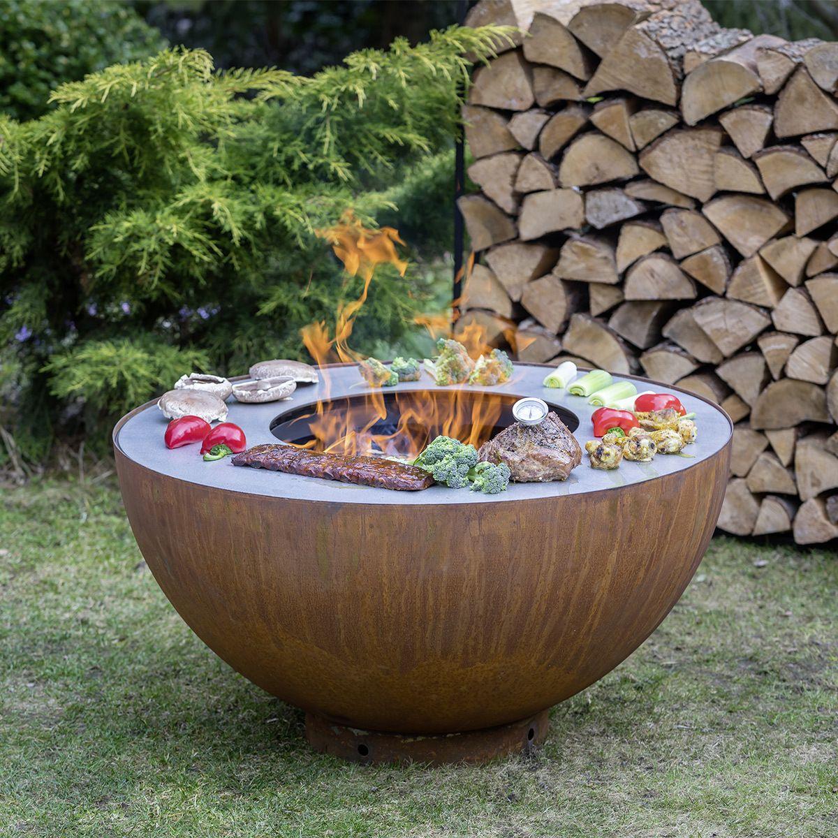 Feu Du Jardin Brasero Barbecue Plancha Boule Brasero Feu Du