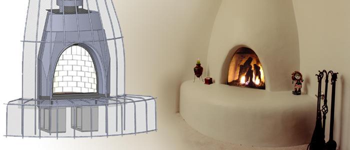 Adobelite The Original And Only Ul Listed Kiva Fireplace Kit Fireplace Kits Adobe House Fireplace Frame