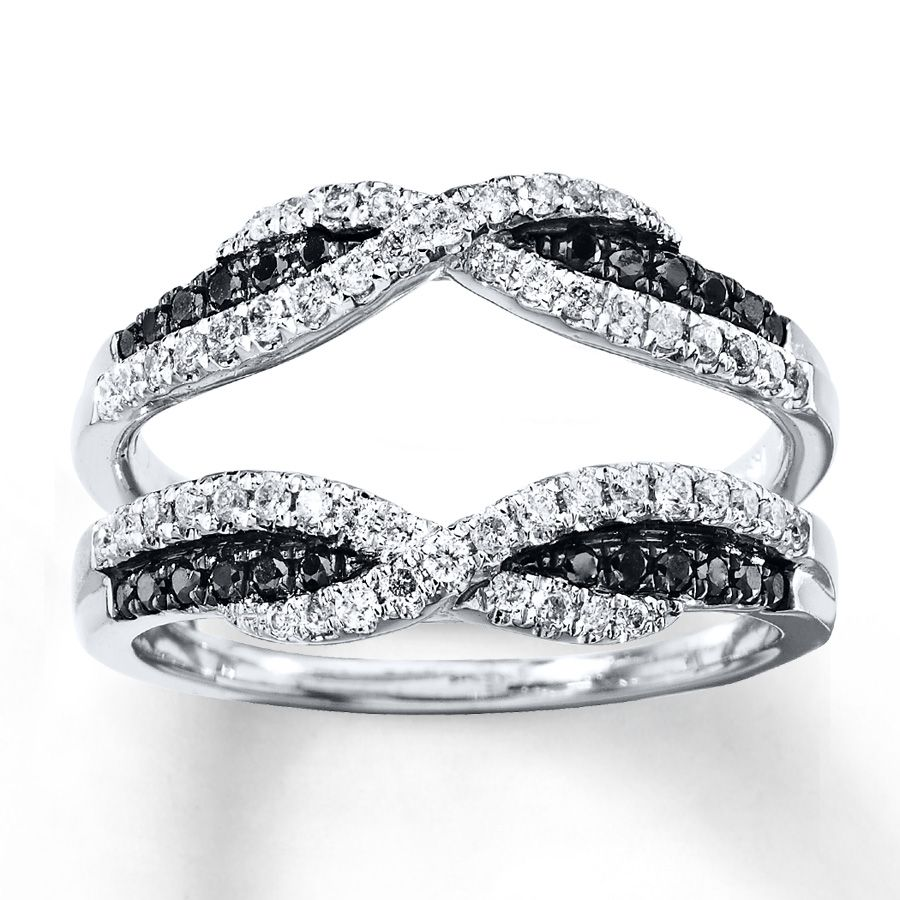 This Dazzling Enhancer Ring For Her Features Artistry Black Diamonds 174 And Black Diamond Wedding Rings Black Diamond Solitaire Ring Black Diamond Solitaire