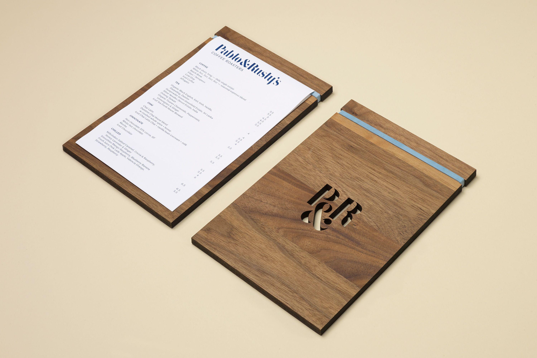 Pablo Rusty S Wood Menu Restaurant Menu Design Menu Design