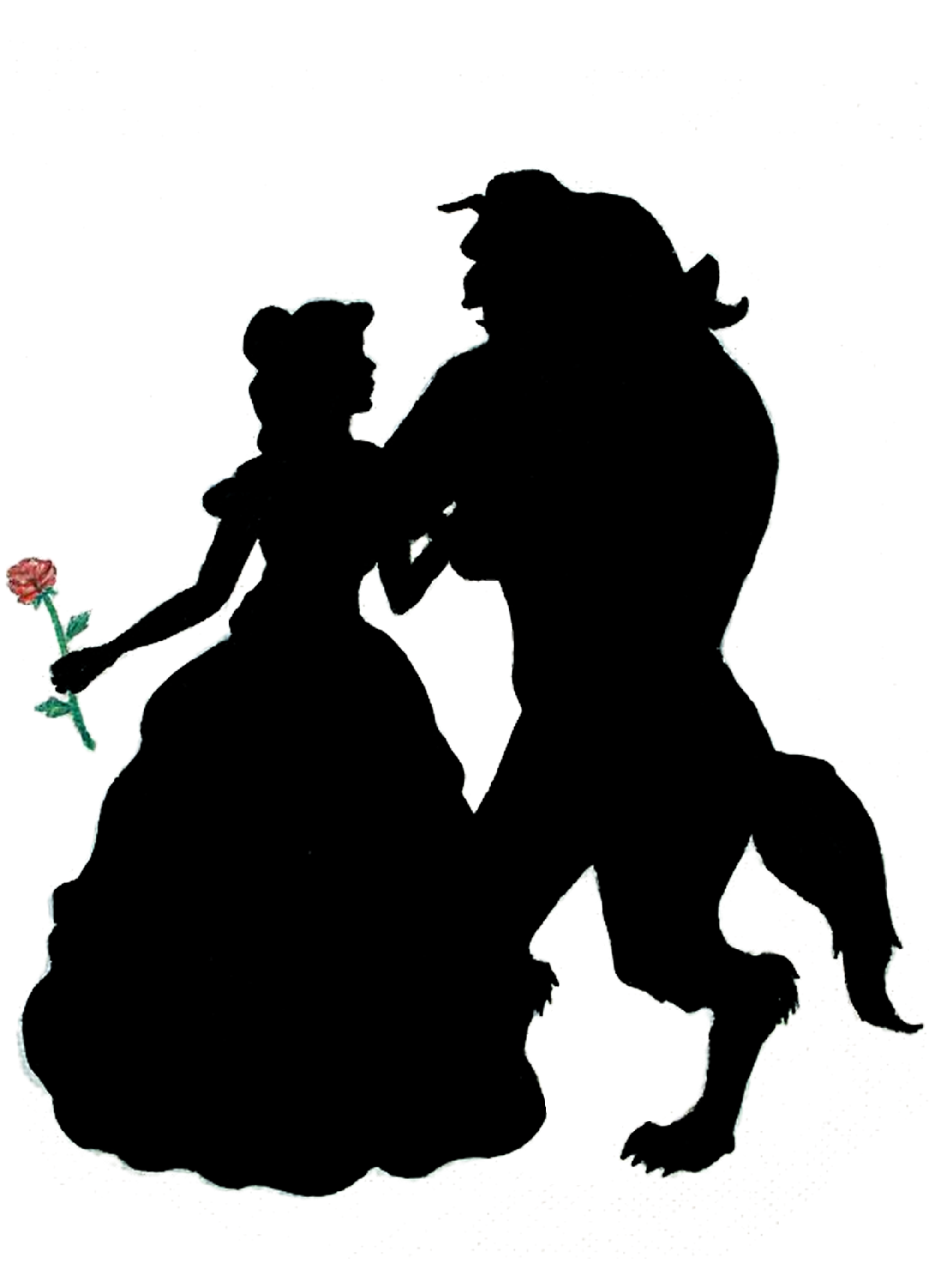 Silhouettes Of Beauty And The Beast Google Search Bela E A Fera