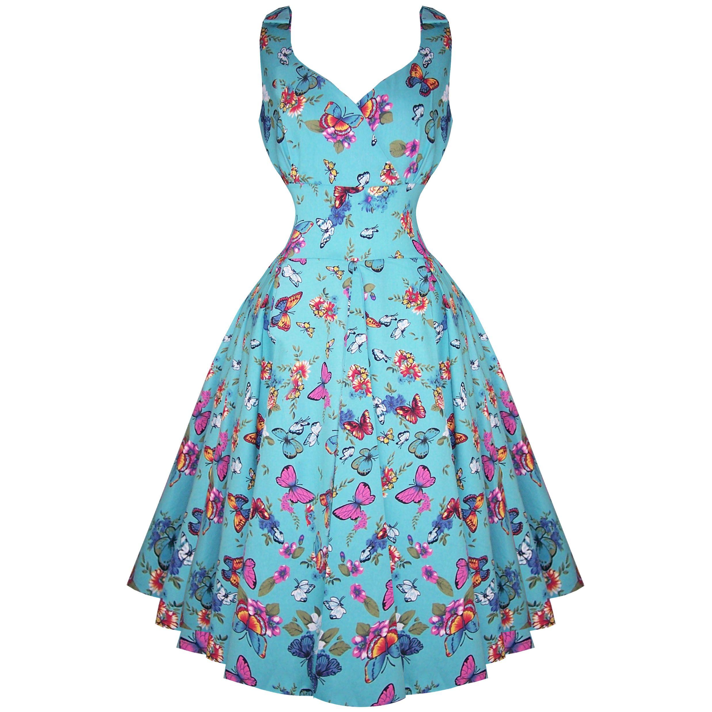 vintage tea dresses floral patterns 1950\'s 1960\'s | ... Ivy Blue ...