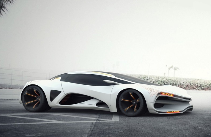 LADA Raven by DjBenny. 21 Amazing Concept Vehicles We Might Be Driving in 2050 - Blog - CGTrader.com