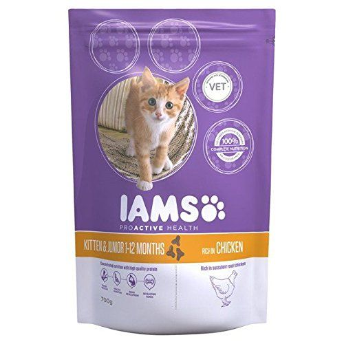 Iams Kitten And Junior Dry Cat Food Chicken 700g Pack Of 6 Check Out The Image By Visiting The Link This Dry Cat Food Cat Food Storage Cat Food Coupons