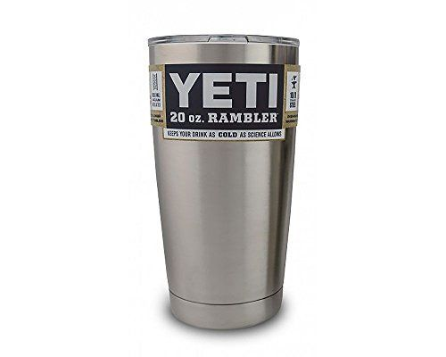 For the on-the-go person in your life: Ice stays solid for HOURS (like, 8+ hours) Yeti Coolers Rambler Tumbler, Silver, 20 oz,