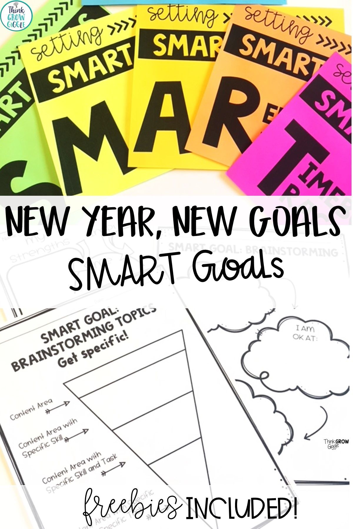 New Year Goal Setting For Kids And Students Smart Goals Smart Goals Worksheet Goal Setting For Students [ 1800 x 1200 Pixel ]