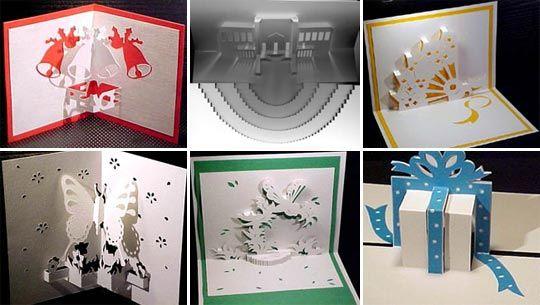 free diy kirigami greetings cards patterns scrapbook paper crafts