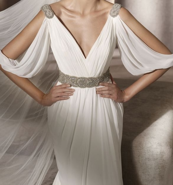 Grecian Style Wedding Gown: Wedding Ideas, Planning & Inspiration