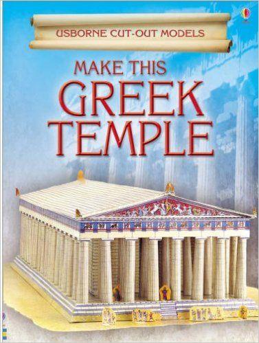 Make This Greek Temple Iain Ashman 9780746093528 Amazon Com Books Greek Temple Usborne Temple