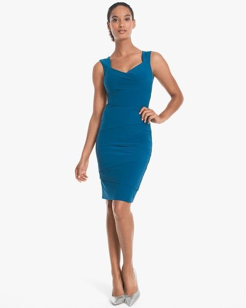 Women S Sleevless Tiered Instantly Slimming Dress By Whbm
