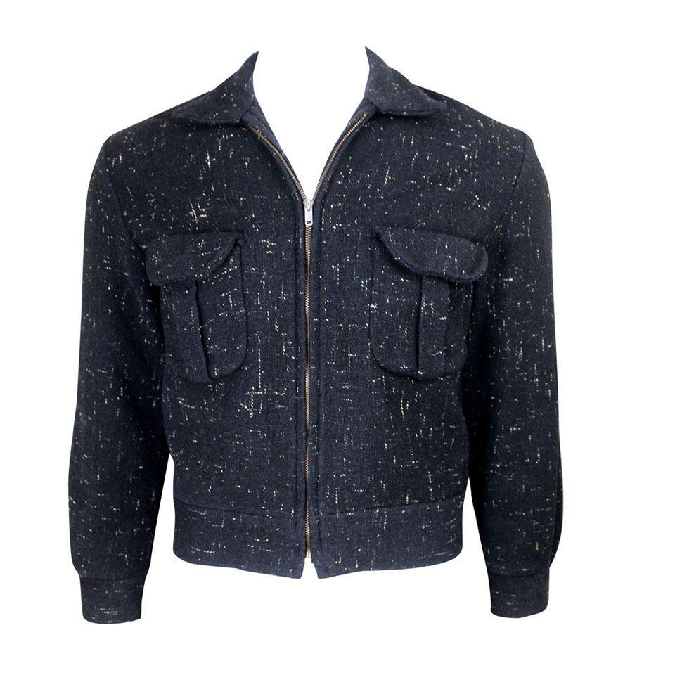 1950s Ricky Flecked Wool Jacket 1stdibs Com Vintage Clothing Men Vintage Jacket Jackets