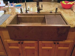 Top Mount Retrofit Copper Apron Signature Series Sink By Rachiele