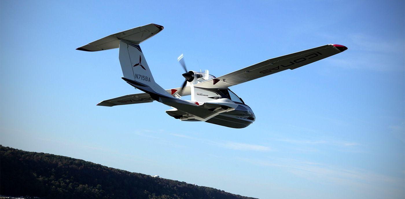 "Icon A5, a $189,000 ""light sport"" aircraft"