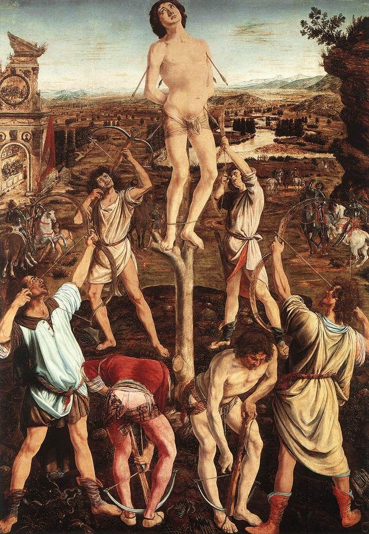 Antonio del Pollaiolo - Martirio di San Sebastiano - 1473-1475 - olio su  tavola - National Gallery, London
