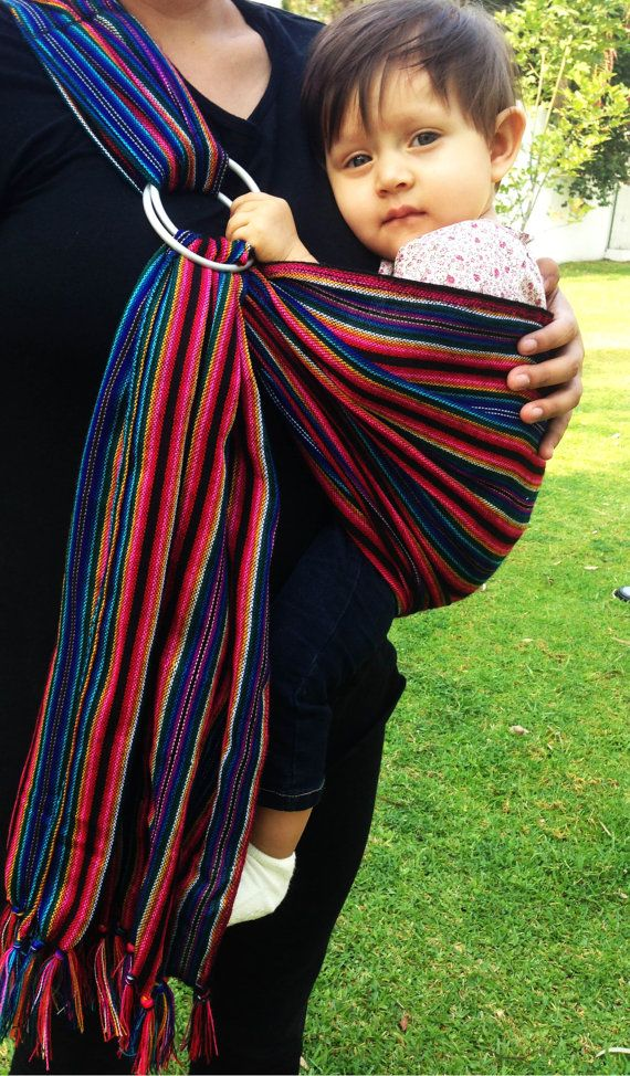 Mexican Tlaquepaque Black Colors Stripes Wrap 30 Yards Baby Etsy Baby Wrap Carrier New Baby Products Baby Wraps
