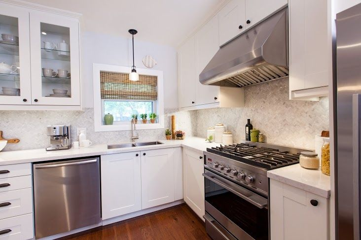 Home Design Ideas Pictures: White Vintage Inspired Kitchen, Small Space Packed With