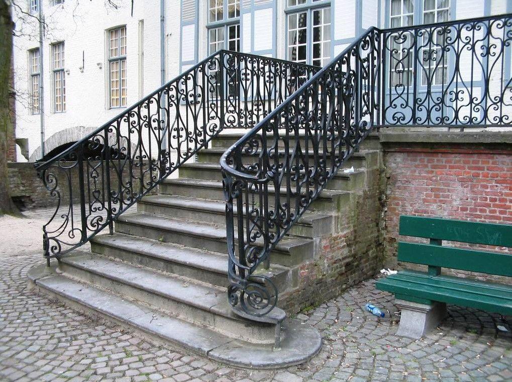 Exterior Wrought Iron Stair Railing