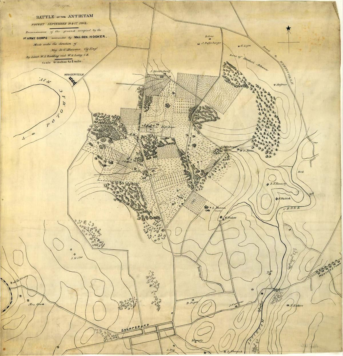 battle of the antietam map