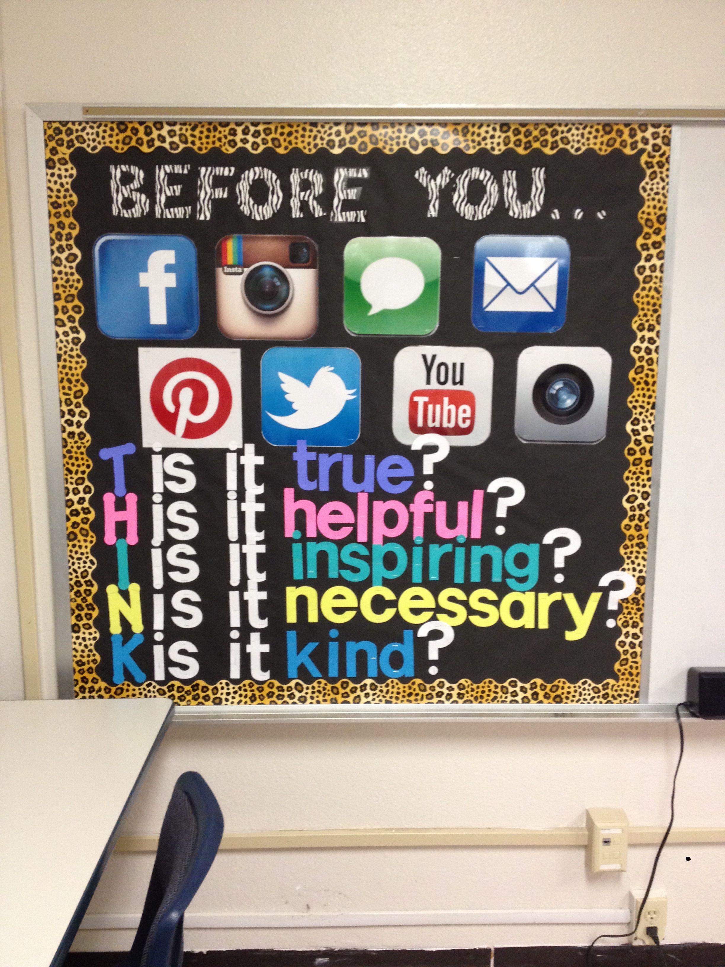 Computer Lab Bulletin Board Think