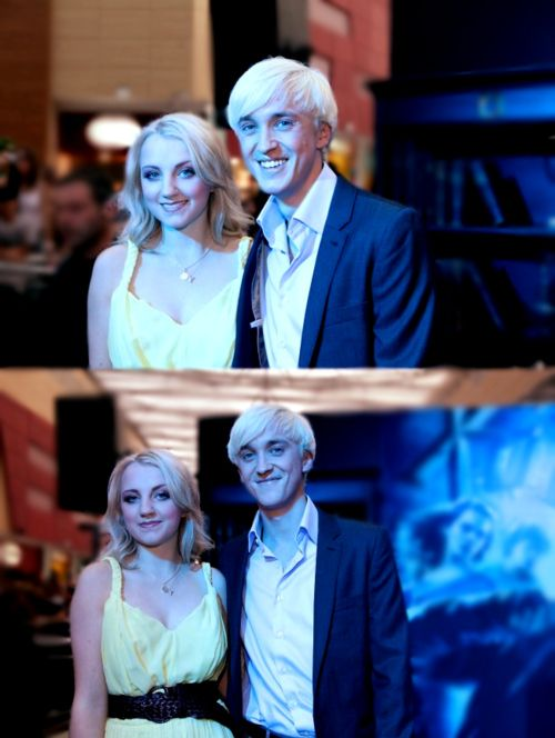 Luna and Draco! (Evanna and Tom) They kinda look like brother and