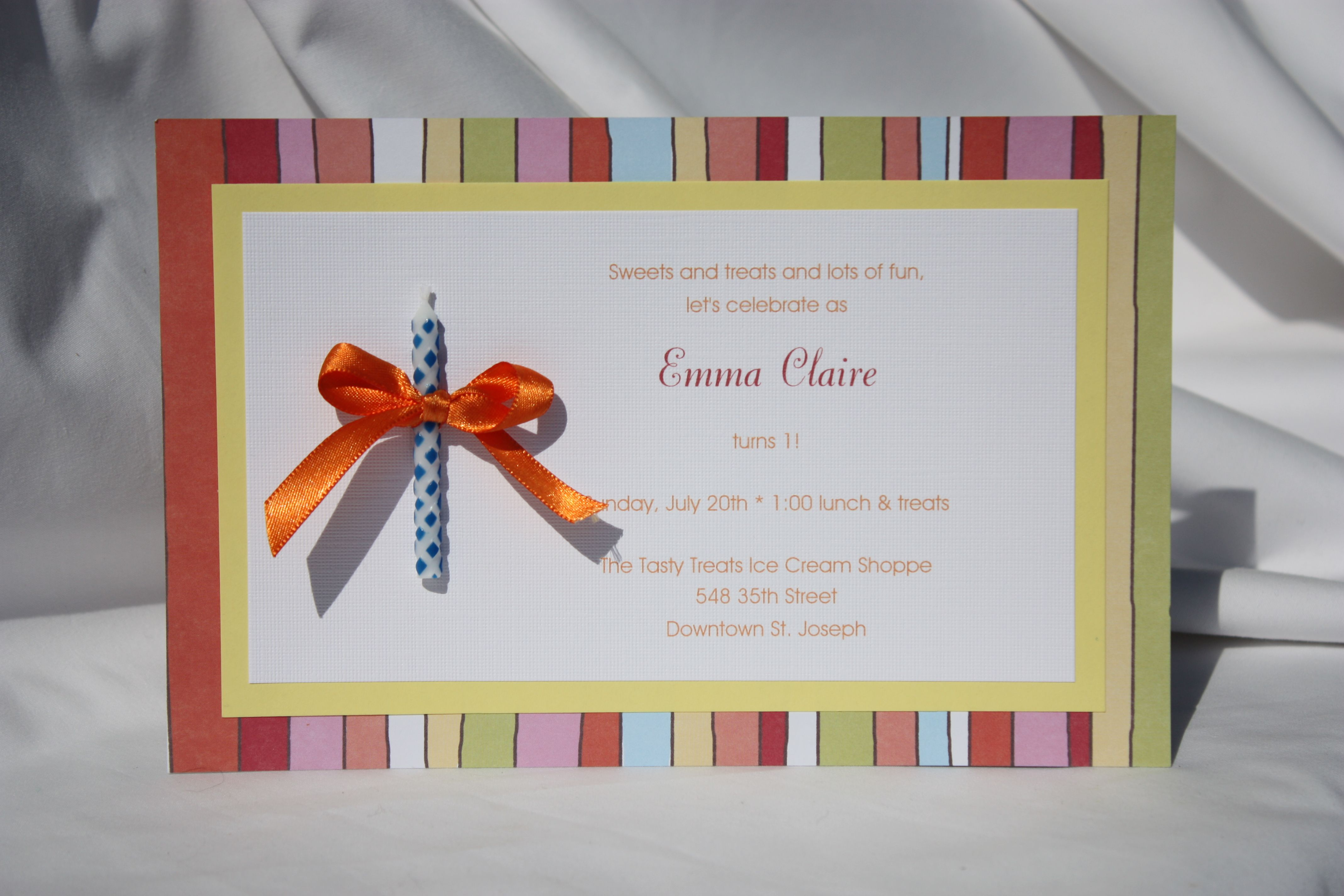 Make Your Own Birthday Card Ideas Part - 34: Tiny Birthday Party Invitation Etiquette And First Birthday Party  Invitation For Baby Girl