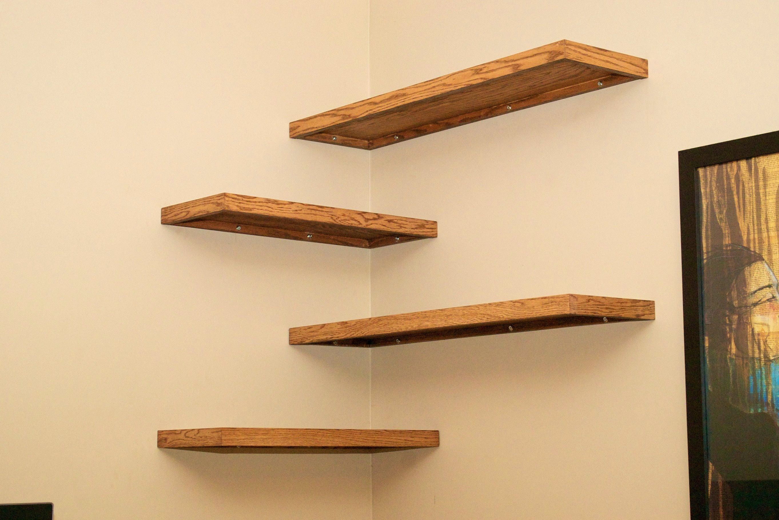 Agreeable Diy Floating Shelves How Build These Make Shelf Ideas ...