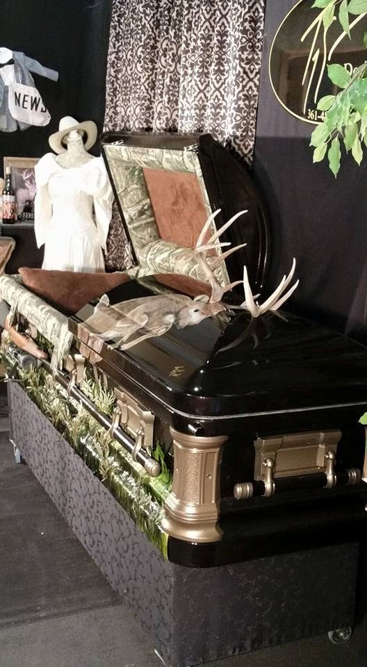 Deer Hunter Custom Casket by Trey Ganem Designs #soulshine | Custom