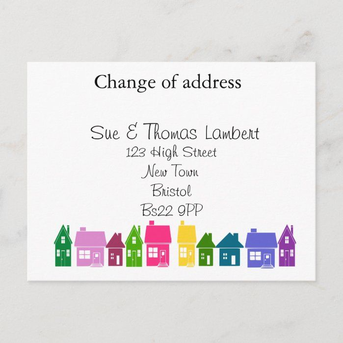 Change of address. Designed by The Arty Apples Limited