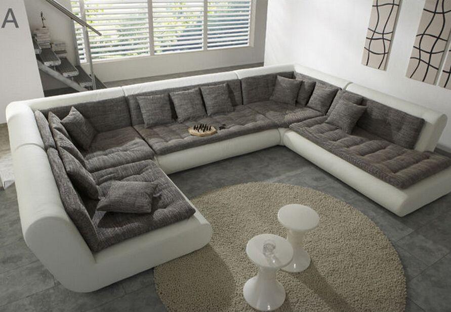 Sofas Em U Modern U Shaped Sectional Sofa Fabric Leather Sofa