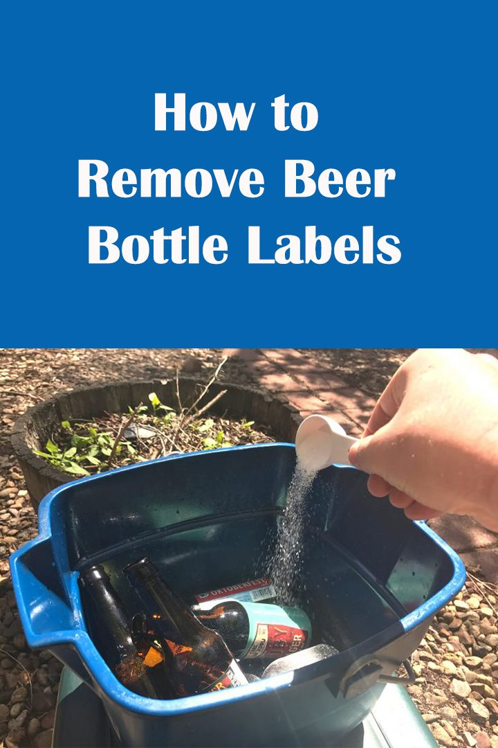 It is a picture of Obsessed Remove Labels From Beer Bottles