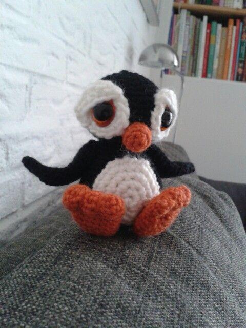 Pinguïn naar patroon van patchwork Moose.