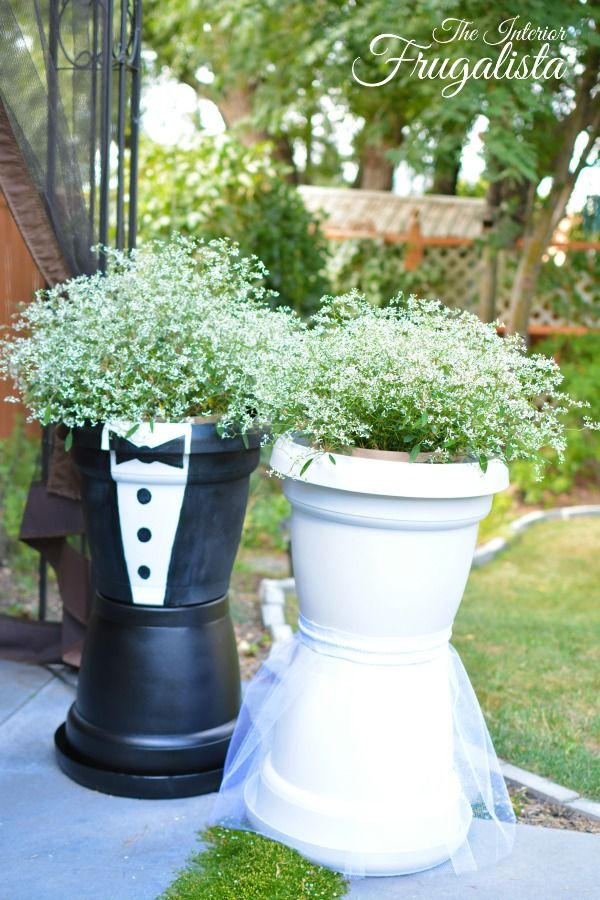 Diy Wedding Centerpiece Trivets And Bridal Flower Pots
