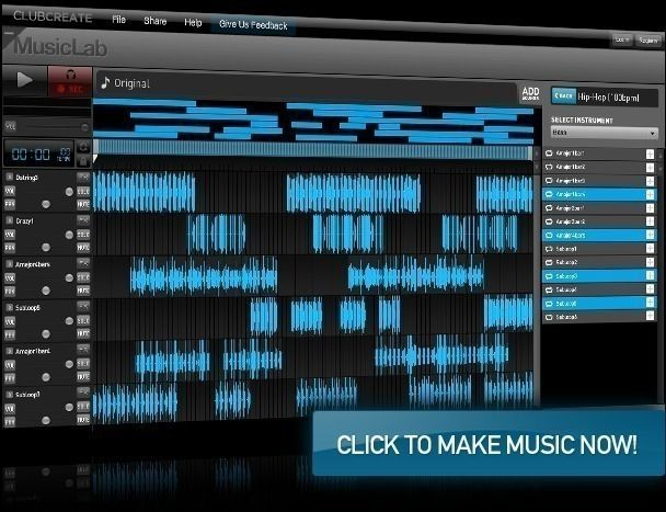 p>Looplabs is a free online music mixing software tool that