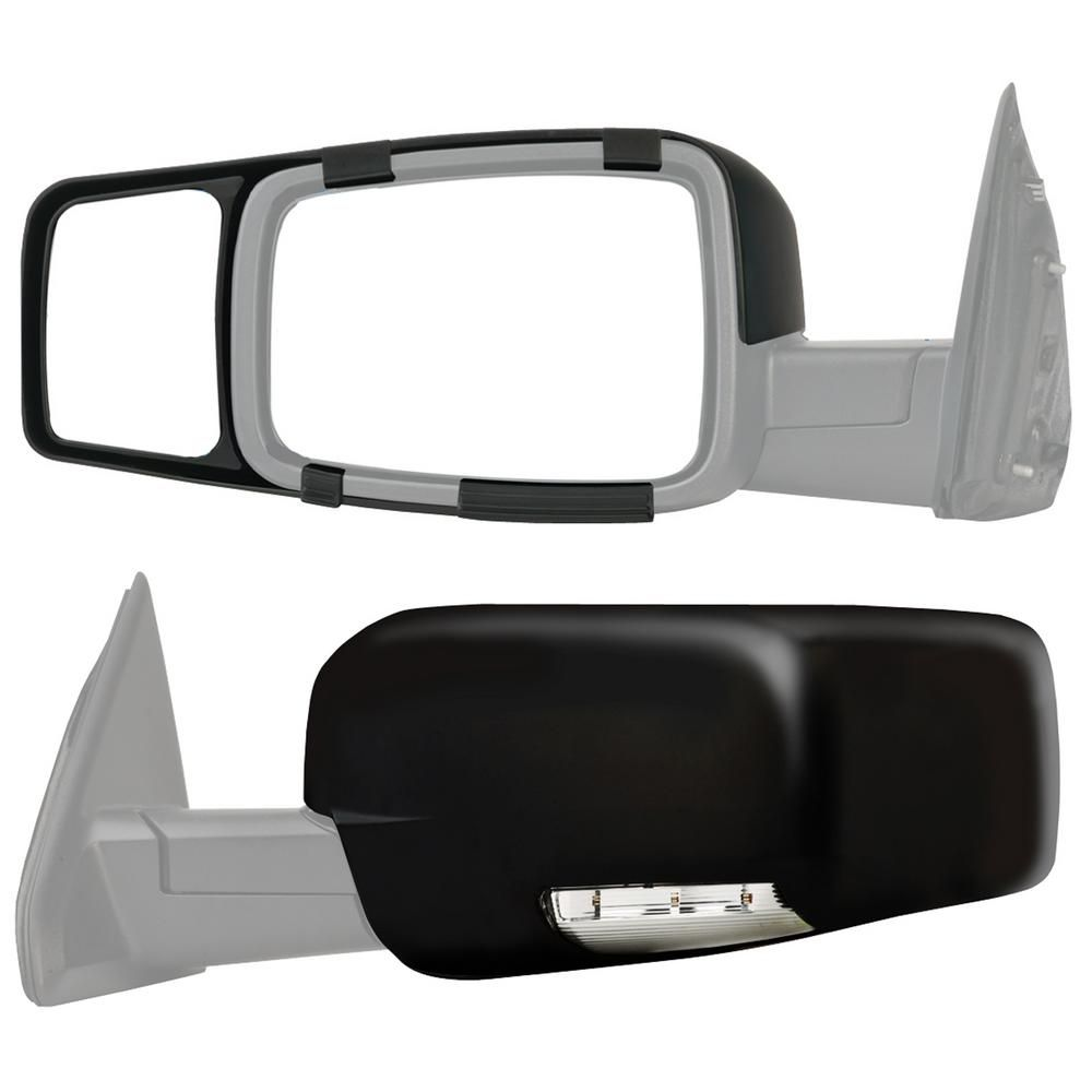 Snap Zap Clip On Towing Mirror Set For 2009 2014 Dodge Ram 1500 2010 2014 2500 3500 80710 The Home Depot In 2021 Towing Mirror Mirror Set Dodge Ram 1500