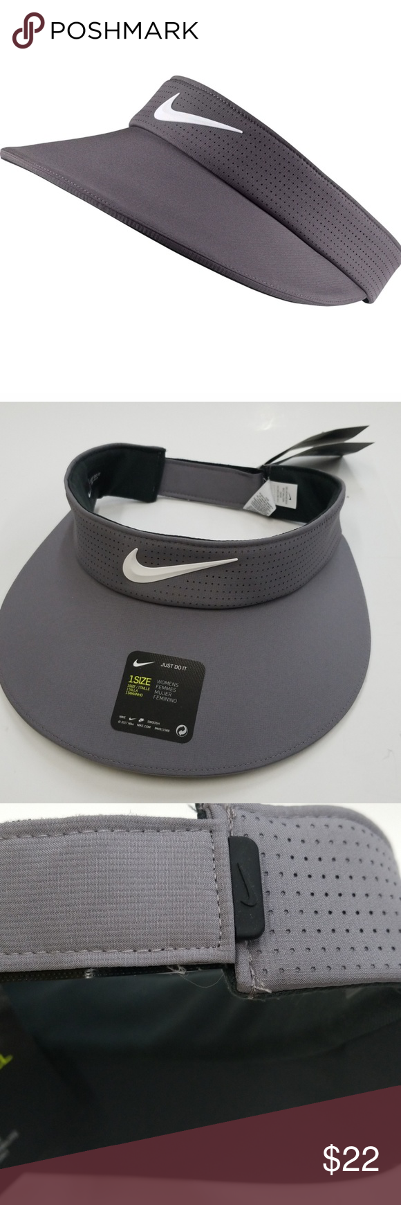 e0dc0fcc70610a Nike Women's Big Bill Visor Gun Smoke Gray Nike Women's BIG BILL Golf Visor  BIG ON