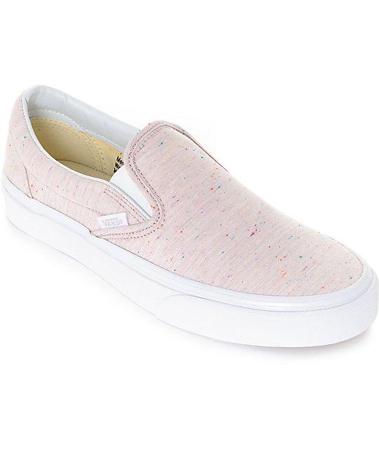 Vans Slip-On Speckle Jersey Pink Shoes
