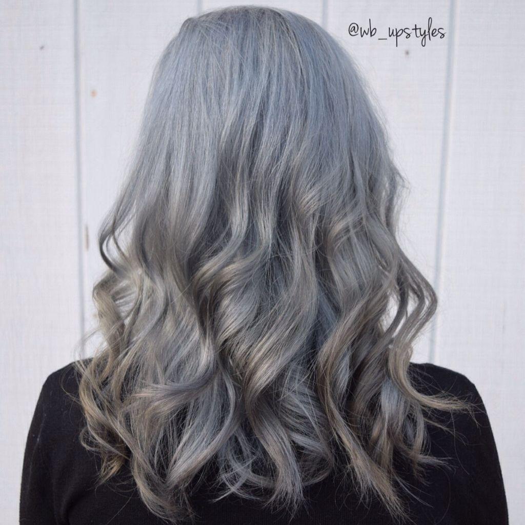 Anium Grey Hair Haircolor Color Gray Dip Dye