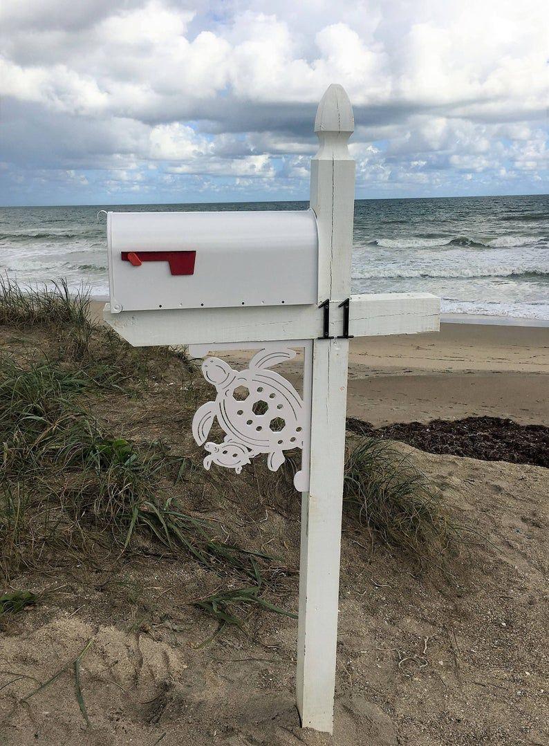 Mailbox Bracket Turtle Coastal Tropical Custom Mailbox
