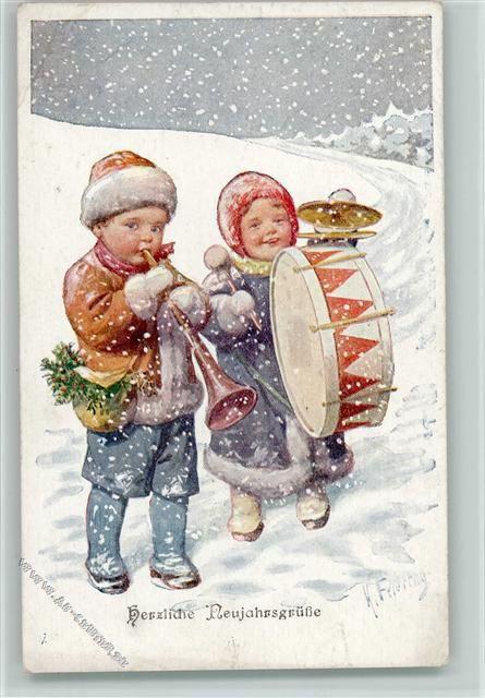 Аквариумом рыбками, старые открытки дети зима