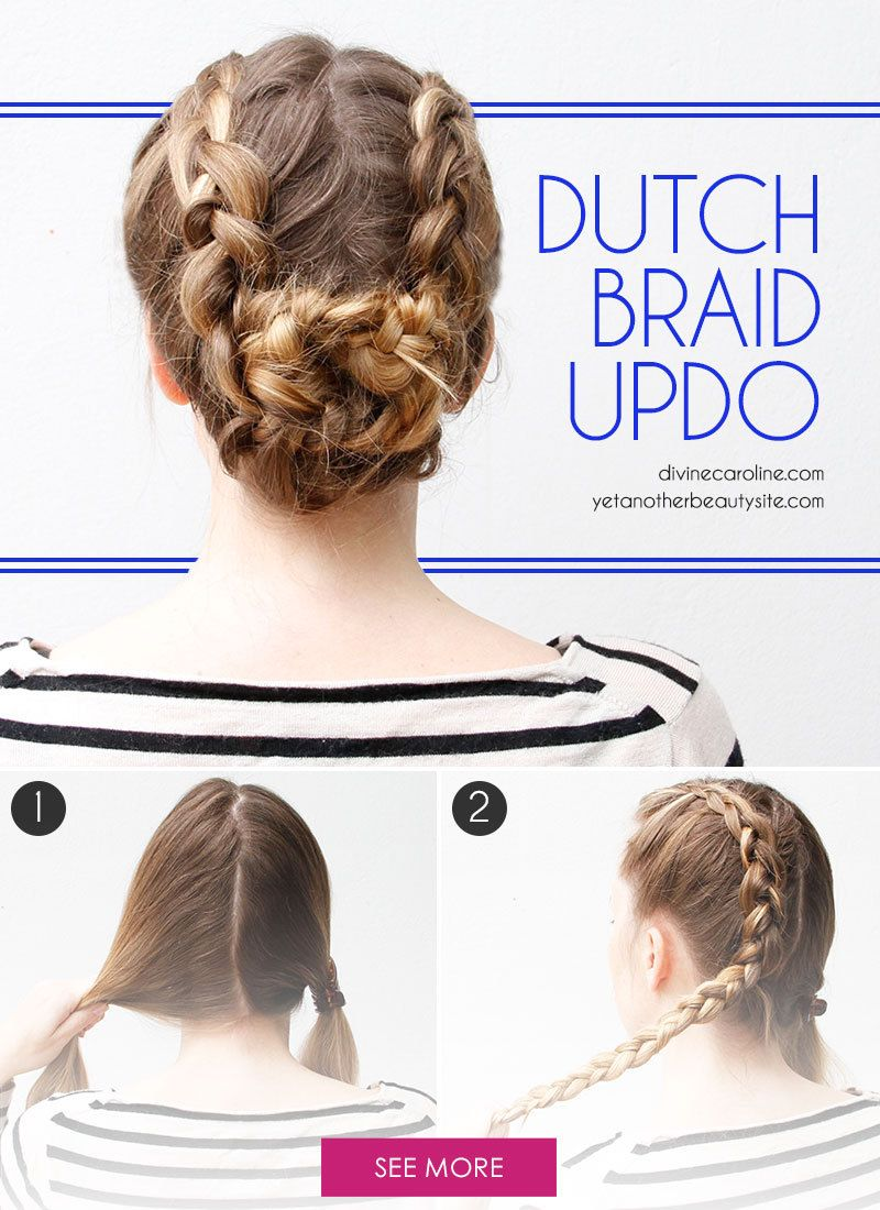 Turn to Dutch braids for a cute, casual 'do perfect for spring. #Beauty #DutchBraid