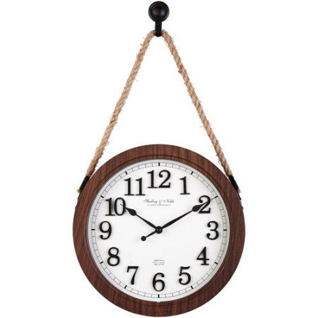 Home Wall Clock On Rope Wall Clock Glass Clock