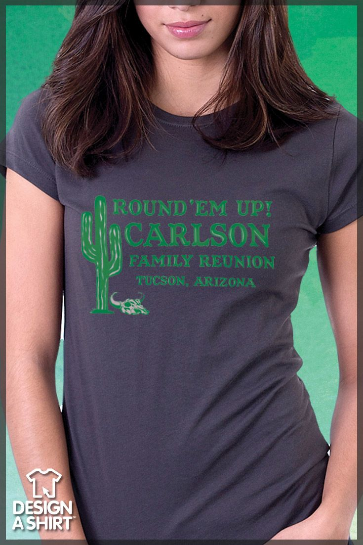 Shirt design buy -  Round Em Up Western Themed Family Reunion T Shirt Template Personalize This