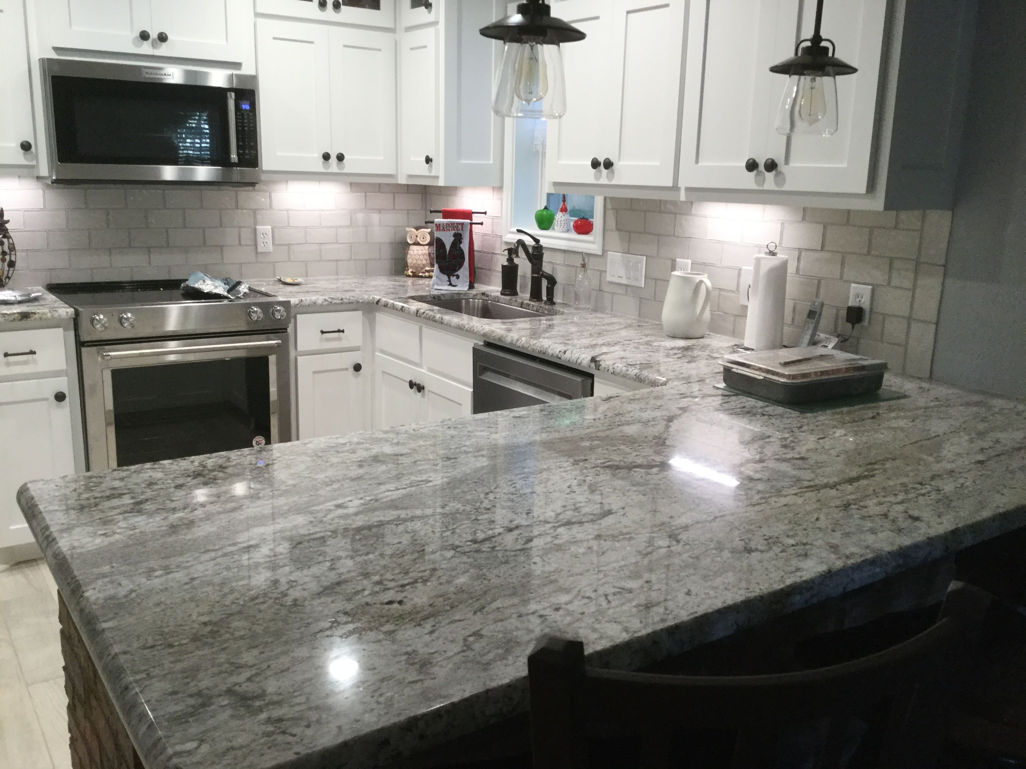 Blue Dunes Granite In Kitchen Redo