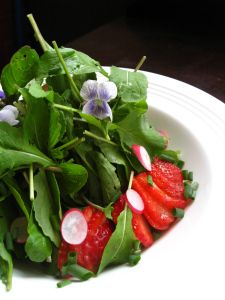 Spicy Sweet Early Garden Salad
