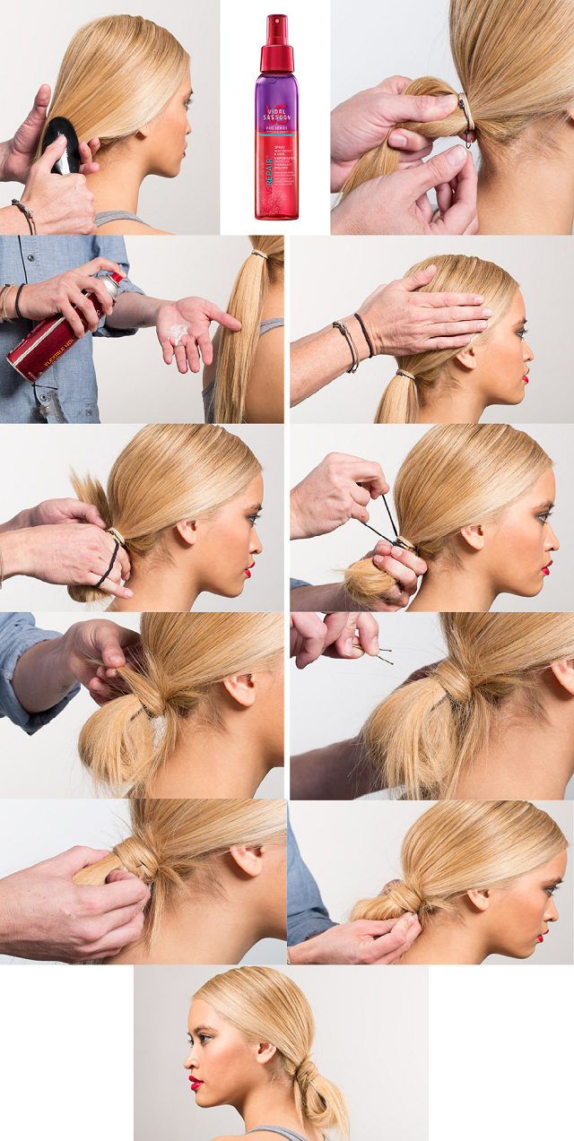 How To Make A Cute And Messy Loop Bun Alldaychic Step By Step Hairstyles Hair Styles Long Hair Styles