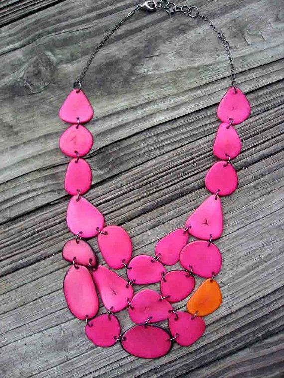 and fuchsia necklace
