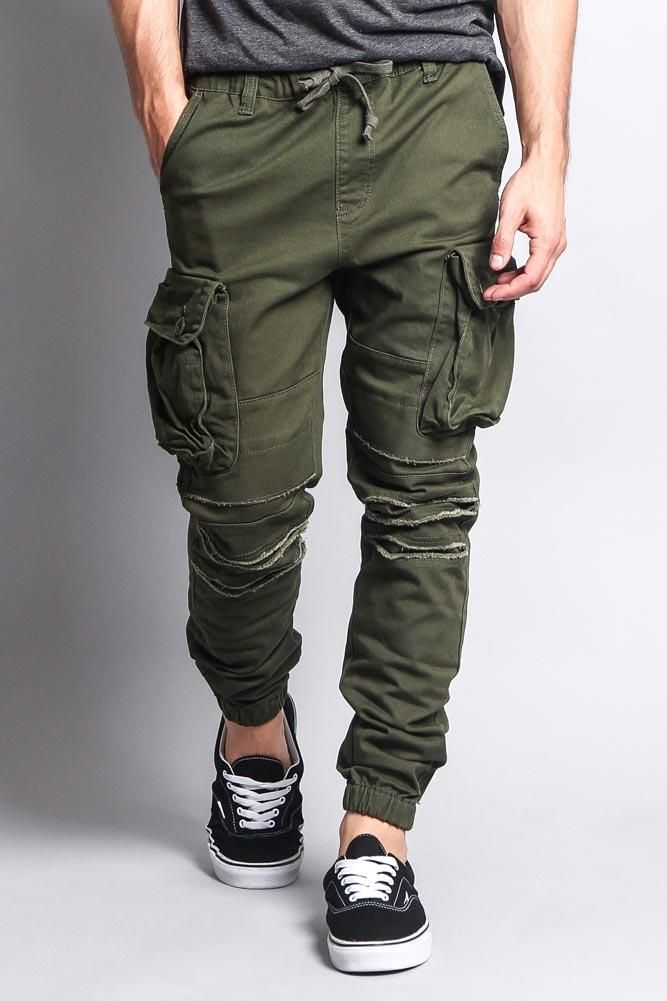 fa3624860c No need for tight pockets, these joggers have big cargo pockets to fit all  of your goods. Every guy should have a great pair of cargo pants in their  closet, ...